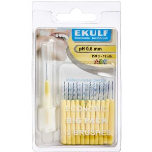 Køb EKULF ph NeoDenta mellemrumsbørster 0,6 mm 12 stk. online hos apotekeren.dk