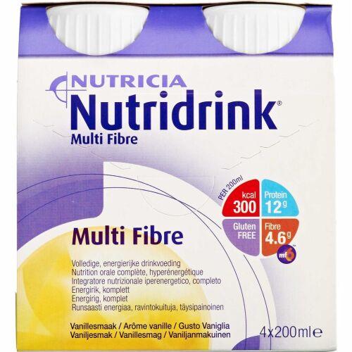 Køb Nutridrink Multi Fibre Mix 6 x 4 x 200 ml online hos apotekeren.dk