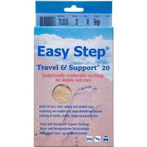 Køb Easy Step knæ travel mix beige 41-42 1 par online hos apotekeren.dk