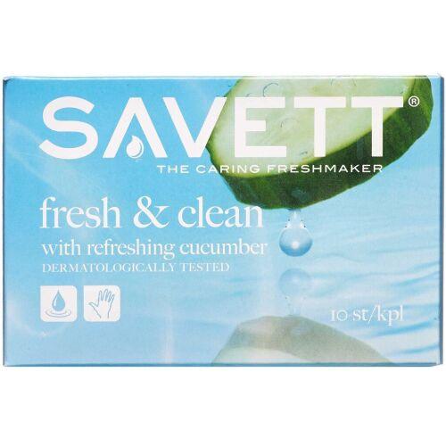 Køb Savett Fresh Vådservietter 10 stk. online hos apotekeren.dk
