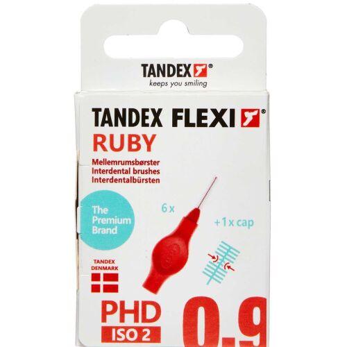 Køb TANDEX FLEXI Mellemrumsbørste - RUBY 6 stk. online hos apotekeren.dk