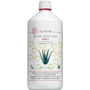 Køb AVIVIR Aloe Vera drik æble 1000 ml online hos apotekeren.dk