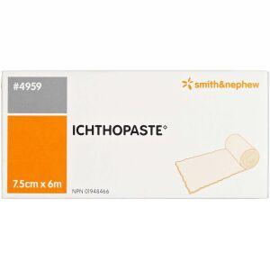 Køb ICHTOPASTE Zinklimbind 4959 7,5 cm x 6 m 1 stk. online hos apotekeren.dk