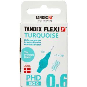 Køb Tandex Flexi Mellemrumsbørste - turquoise 0,6 mm 6 stk. online hos apotekeren.dk