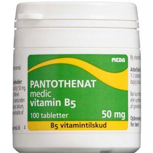 Køb Pantotenat Vitamin B5 tabletter 100 stk. online hos apotekeren.dk