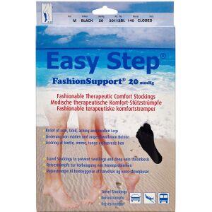 Køb Easy Step knæ lukket tå sort M 1 par online hos apotekeren.dk