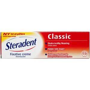 Køb Steradent Fixativ Ultra 3 creme 40 g online hos apotekeren.dk