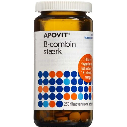 Køb Apovit B-Combin Stærk tabletter 250 stk.  online hos apotekeren.dk