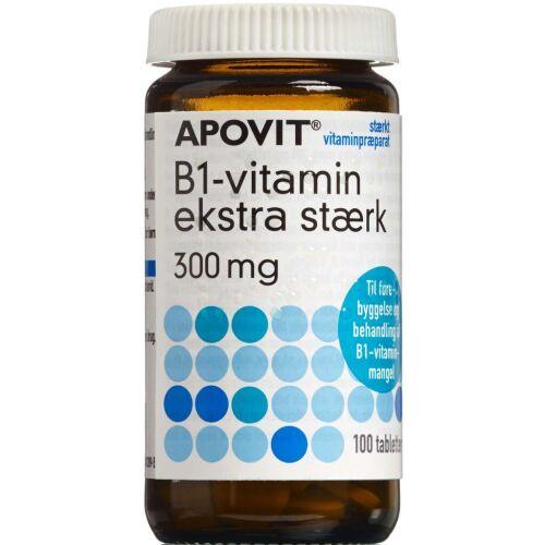 Køb Apovit B1-vitamin Ekstra Stærk tabletter 300 mg 100 stk.  online hos apotekeren.dk