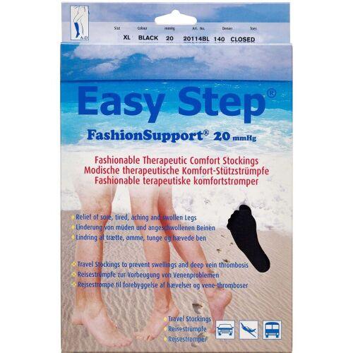 Køb Easy Step knæ lukket tå sort XL 1 par online hos apotekeren.dk