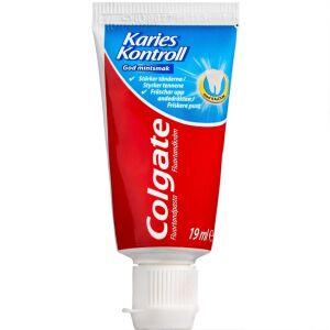 Køb Colgate caries kontrol tandpasta 19 ml online hos apotekeren.dk
