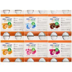 Køb Resource 2.0+ fibre Mix 6 x 4 x 200 ml online hos apotekeren.dk
