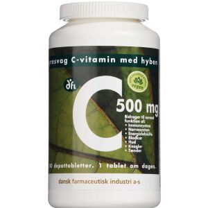 Køb C-vitamin 500 mg m. hyben 240 stk. online hos apotekeren.dk
