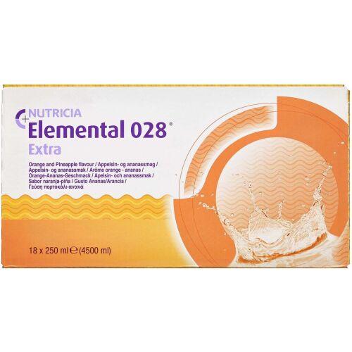 Køb Elemental 028 extra orange/ananas 18 x 250 ml online hos apotekeren.dk