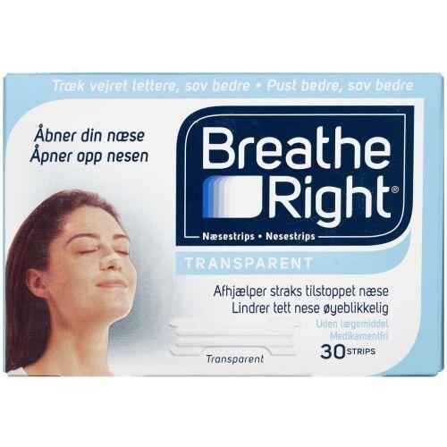 Køb Breathe Right Næsestrips 30 stk. online hos apotekeren.dk
