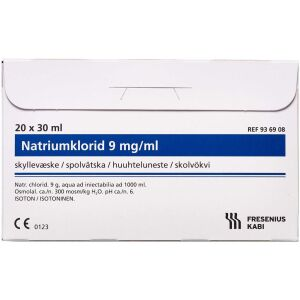 Køb Natriumklorid 9mg/ml microspol 20x30 ml online hos apotekeren.dk
