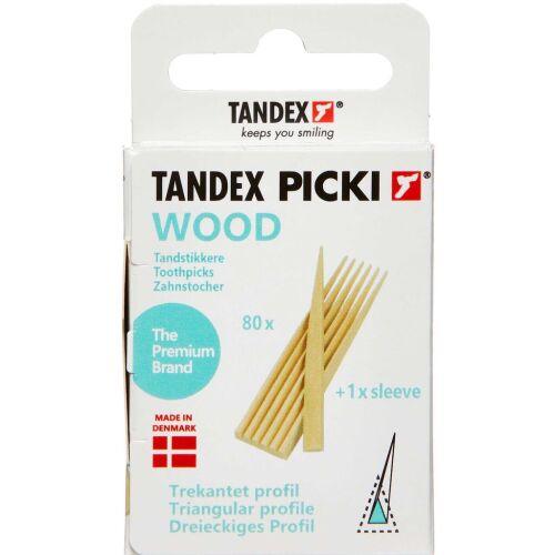 Køb TANDEX Tandstikker Træ 80 stk. online hos apotekeren.dk