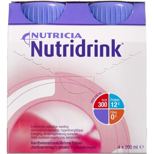 Køb Nutridrink Jordbær 4 x 200 ml online hos apotekeren.dk