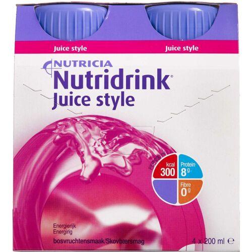 Køb Nutridrink Juice Style Skovbær 4 x 200 ml online hos apotekeren.dk