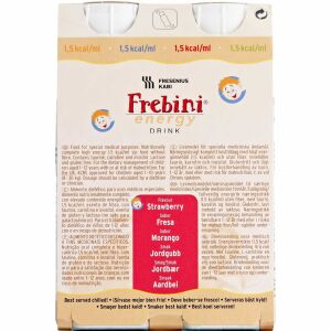 Køb Frebini® Energy Drink Jordbær 4 x 200 ml online hos apotekeren.dk