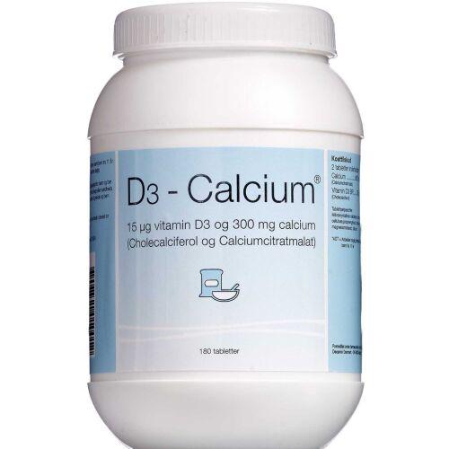Køb D3-Calcium tabletter 180 stk. online hos apotekeren.dk