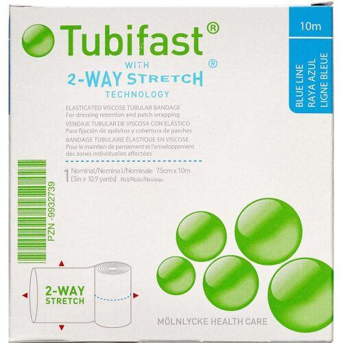Køb Tubifast 2-WAY Stretch BLÅ 7,5 cm x 10 m. online hos apotekeren.dk