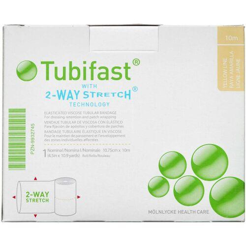 Køb Tubifast 2-WAY Stretch GUL 10,75 cm x 10 m. online hos apotekeren.dk