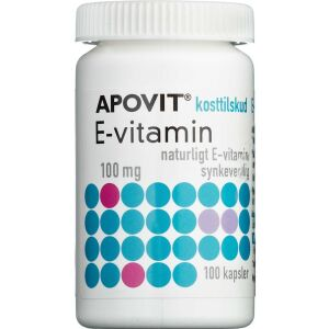 Køb Apovit E-vitamin 100 mg 100 stk. online hos apotekeren.dk
