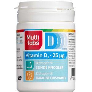 Køb Multi-tabs Vitamin D3 25 µg 180 stk. online hos apotekeren.dk