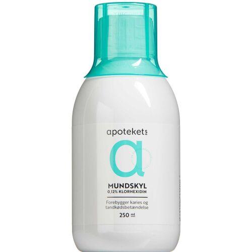 Køb Apotekets Klorhexidin 0,12% Mundskyllevæske 250 ml online hos apotekeren.dk