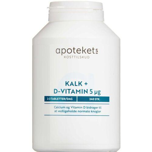 Køb Apotekets Kalk og D-vitamin 5mikg 240 stk. online hos apotekeren.dk