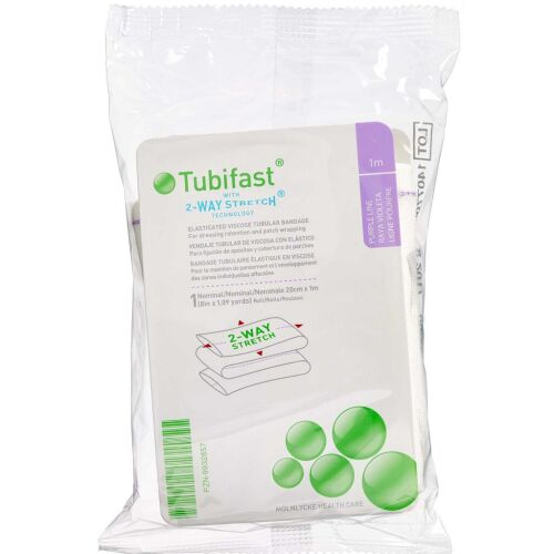 Køb Tubifast 2-WAY Stretch LILLA 20 cm x 1 m. 1 stk. online hos apotekeren.dk