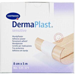 Køb DermaPlast Sensitive plaster 8 cm x 5 m 1 stk. online hos apotekeren.dk