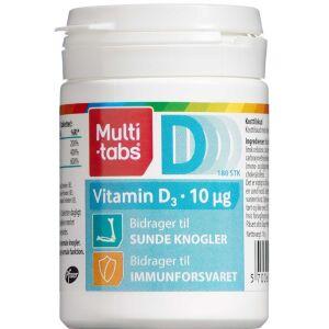 Køb Multi-tabs Vitamin D3 10 µg 180 stk. online hos apotekeren.dk