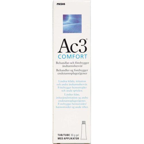 Køb Ac3 Comfort gel behandling af analkløe og irritation 40 ml online hos apotekeren.dk