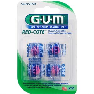 Køb GUM Red-Cote Farvetablet 12 stk. online hos apotekeren.dk
