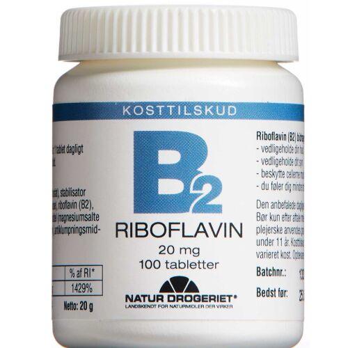 Køb B2-Vitamin tabletter 100 stk. online hos apotekeren.dk