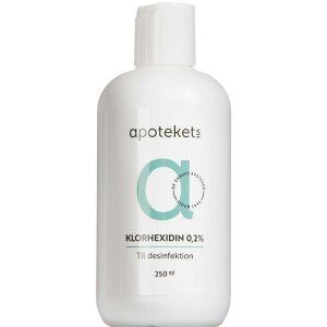 Køb Apotekets Klorhexidin 0,2% 250 ml online hos apotekeren.dk