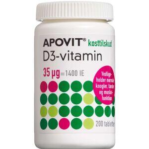 Køb Apovit D3-vitamin 35 mikg 200 stk. online hos apotekeren.dk