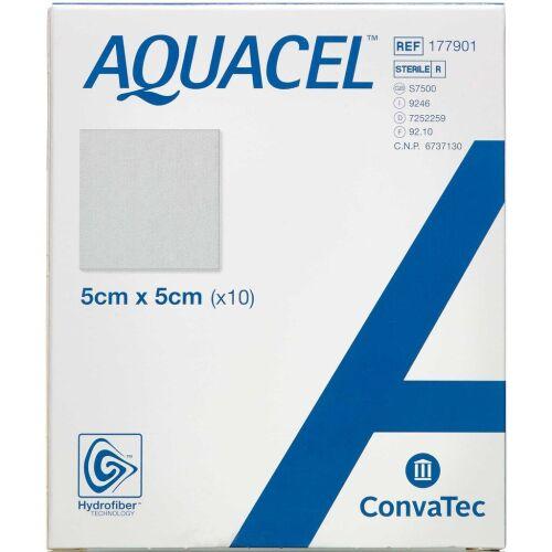 Køb Aquacel Hydrofiber sårbandage 5 x 5 cm 10 stk. online hos apotekeren.dk