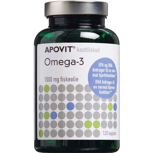 Køb Apovit Omega-3 1000 mg kapsler 120 stk.  online hos apotekeren.dk