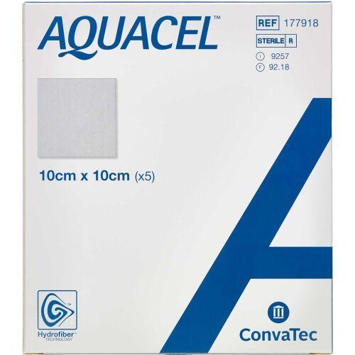 Køb Aquacel Hydrofiber sårbandage 10 x 10 cm 5 stk. online hos apotekeren.dk