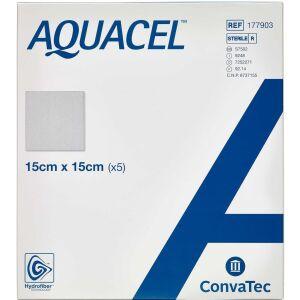 Køb Aquacel Hydrofiber sårbandage 15 x 15 cm 5 stk. online hos apotekeren.dk