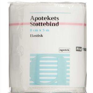 Køb Apotekets Støttebind elastisk 8cm x 5m 1 Stk online hos apotekeren.dk