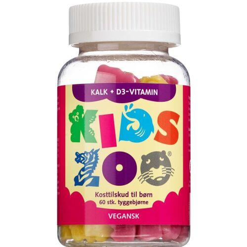 Køb Kids Zoo Kalk + D3-Vitamin 60 stk. online hos apotekeren.dk