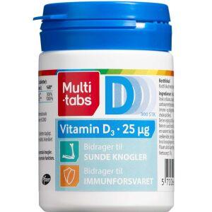 Køb Multi-tabs D3-vitamin 25 µg 300 stk. online hos apotekeren.dk
