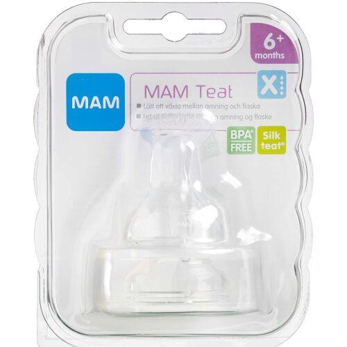Køb MAM Flaskesut, X-hul 2 stk. online hos apotekeren.dk