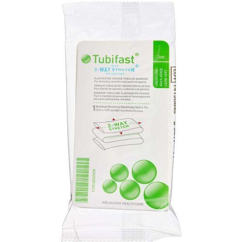 Køb Tubifast 2-WAY Stretch GRØN 5 cm x 1 m. 1 stk. online hos apotekeren.dk