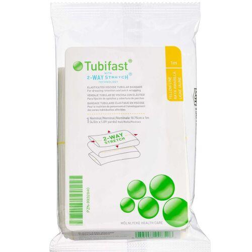 Køb Tubifast 2-WAY Stretch GUL 10,75 cm x 1 m. 1 stk. online hos apotekeren.dk