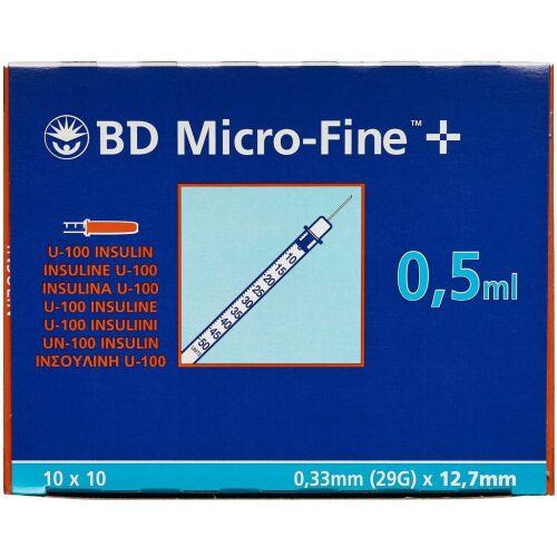 Køb Bd Micofine insulinsprøjte 12,7 mm. 100 stk. online hos apotekeren.dk